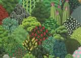 좋은 기운 가득한 격자무늬 숲