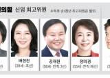 국민의힘 최고위원 평균 50세, 민주당보다 3.8세 젊어져