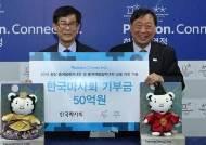 한국마사회, 평창동계올림픽 지원금 50억원 기부