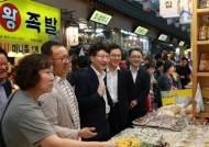 김용준 중부지방국세청장, 추석맞이 전통시장 방문