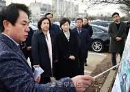 박순자 국토교통위원장, 김현미 장관과 신안산선 관련 긴급 현장 점검