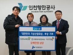 IPA, 2018 대한민국 기상산업대상 부상 전액 기부