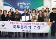 광명시, 전국 지자체 유일 '가족친화 우수기관 국무총리상' 쾌거