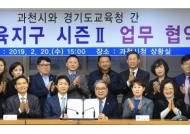 과천시, 경기도교육청과 혁신교육지구 업무협약 체결