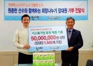 대원제약 장대원, NC다이노스 원종현과 창원시 저소득 가정 위해 기부