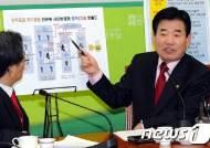 [사진]김진표, 사이버테러 공격 자금 흐름도 설명