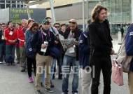 [사진]런던올림픽파크 출입하는 각국 미디어 관계자들