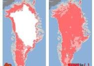 그린란드 빙상, 97% 녹아 없어져…7월 들어 녹는 속도 사상 가장 빨라