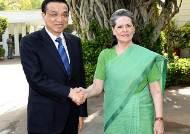 인도 국민회의당 대표 만난 리커창