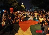 팔레스타인의 평화를 염원하는 요르단 시민들