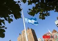 유엔본부, 이례적 조기 게양…가자지구 희생 UN 직원 11명 추모