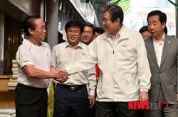 김무성 광장시장 방문…연일 민생행보