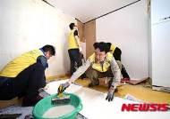 도배봉사활동하는 김용하 산림청 차장과 직원들