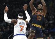 [NBA]'킹' 르브론, 라이벌 앤써니에 판정승…CLE, 뉴욕에 역전