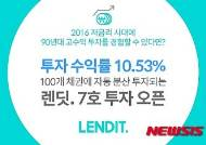P2P업체 렌딧, 연평균 10.53% 수익률 포트폴리오 투자 오픈
