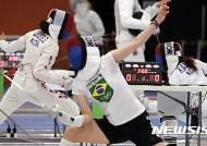 [리우2016]훈련에 열을 올리는 펜싱 선수들