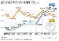 [그래픽]온라인 해외 직접 판매액 및 구매액 추이