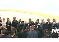 동아시아정상회의 참석한 박근혜 대통령과 각국 정상들