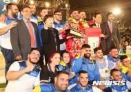 세계특별장사씨름대회 우승자 마르코스와 스페인선수단