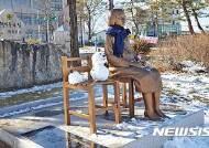 눈사람 있어 외롭지 않은 제천 평화의 소녀상