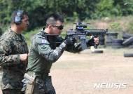 태국 코브라골드 훈련, 해병대 수색부대 기동사격중