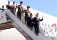 아시아나 A350 도입식, 손흔드는 박삼구회장과 김수천 사장