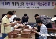 제19대 대통령 선거 재외투표 회송 우편물 접수 개시