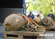 독일에서 발견된 2차세계대전 당시 대형 폭탄들