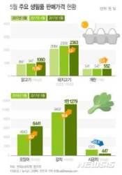 [그래픽] 5월 주요 생필품 판매가격 현황