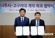 [나주소식]나주시-고구려대 '계약학과' 설치·운영 협약