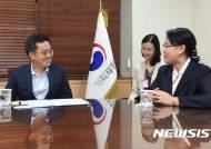 김동연 부총리, 준홍 창 AMRO 소장 면담