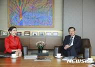 박삼구 회장, 美 메릴랜드주지사 부인 유미 호건 여사와 환담