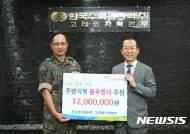 고리원자력본부, 원전 시설 방호 장병에 후원금 전달