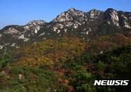 북한산 의상능선의 아름다운 오색단풍