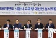 '2018회계연도 서울시-교육청 예산안 분석토론회'
