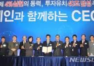민선 6기 충북 투자유치 40조원 중 청주·진천·보은이 30조원