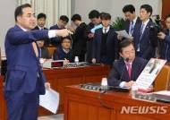 국회 운영위 야당 단독 개의 항의하는 박홍근 원내수석