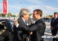 佛 마크롱, 총선 앞둔 젠틸로니 총리와 유럽 통합 강조
