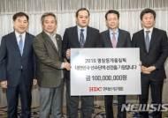 정몽규 현대산업개발 회장, 평창 선수단에 1억원 전달