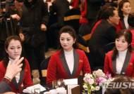 북한 응원단, 태권도시범단, 기자단 환영 만찬