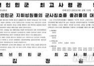北, 조선인민군 최고사령관 명령