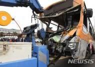 [종합2보]울산서 시내버스 담벼락 부딪쳐 전도…2명 사망·37명 중·경상