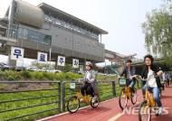 용인 경전철 역사서 무료 자전거 이용하세요