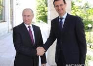 """[종합]아사드, 러시아 깜짝 방문...""""테러전 승리로 정치의 길 열려"""""""