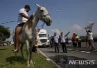 """브라질 트럭 파업 8일째 """"물류대란, 경제 붕괴 조짐"""""""