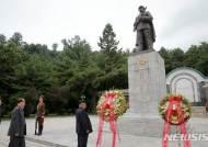 김정은 위원장, 중국인민지원군열사릉원 방문