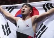 류한수, 레슬링 그레코로만 67㎏ 금메달…아시안게임 2연패