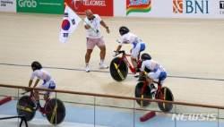 여자 사이클 트랙 팀추월 금메달