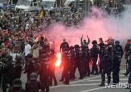 독일 켐니츠서 극우단체 시위 발생