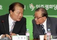 논의하는 개성공단기업협회 비대위 신한용-유동옥 위원장